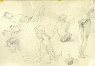 William A. Sutton, Life Drawings, nd, UC/SFA/025: 1 of 2