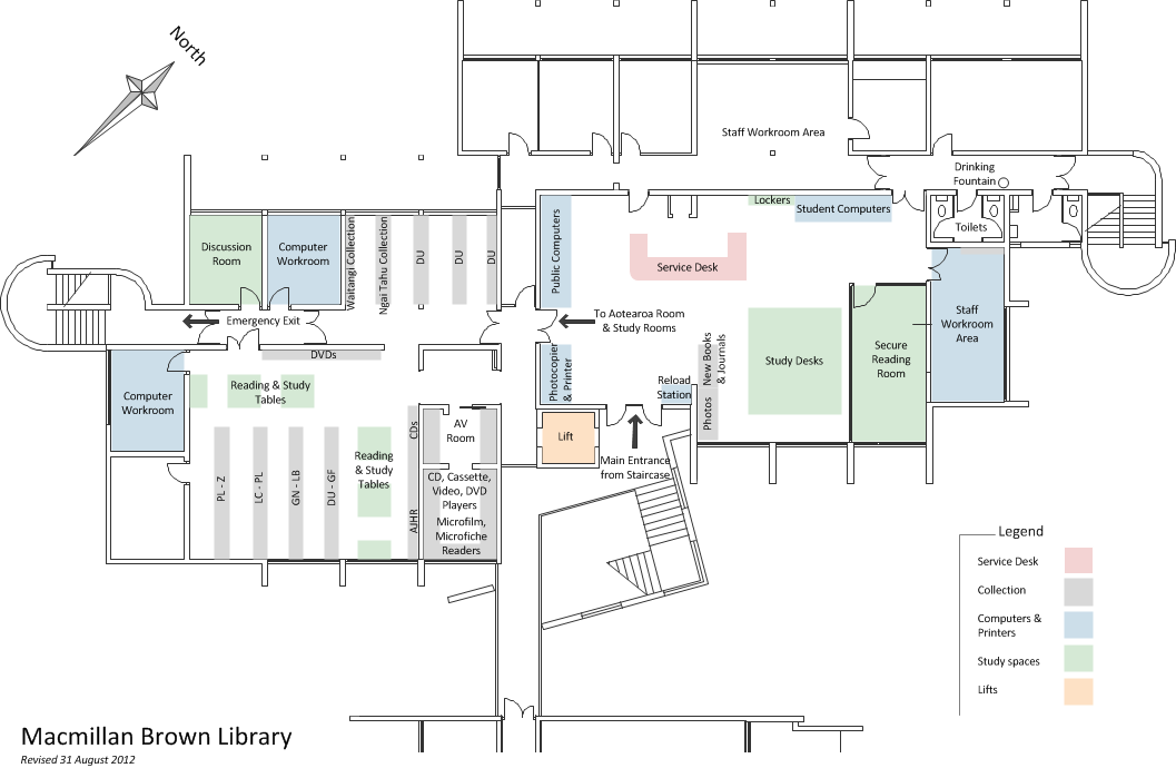 A z site map library university of canterbury Floor plan design website